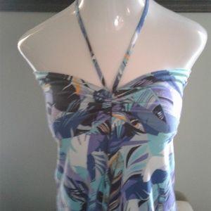 🌴Patagonia Tropical Print Hi-Lo Strapless Dress